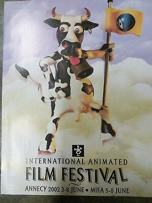 2002 International Animated Film Festival - Cow - Vintage Advertisement