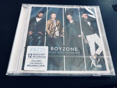 Boyzone--Thank You And Goodnight---Autographed,handsigned By All 4- Uk Cd Album