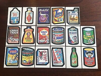 1973 Topps Wacky Packages Original 1st Series Stickers And Checklists