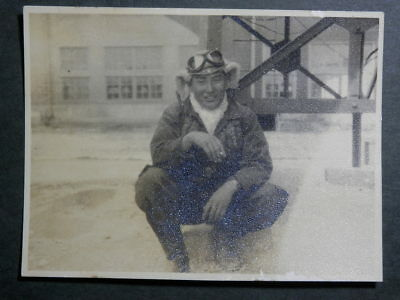 WW2 Japanese Matching picture of the navy flying corps pilot.Very Good