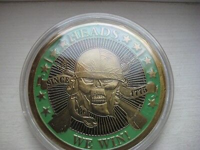 Heads We Win Tails You Lose Skull ( Alloy Metal)  (EACH)