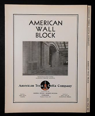 American Terra Cotta Company on American Wall Block Original Brochure from 1930s