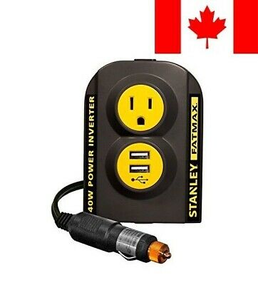 STANLEY FATMAX PCI140 140W Power Inverter: 12V DC to 120V AC Power Outlet wit...