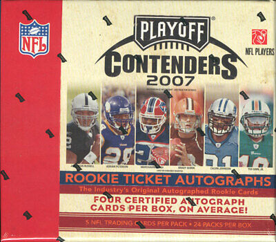 2007 Playoff Contenders Football Hobby Box Blowout Cards