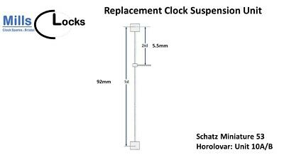 Schatz Miniature 53/54 (unit 10A/B) Anniversary Clock 400 Day Suspension Unit