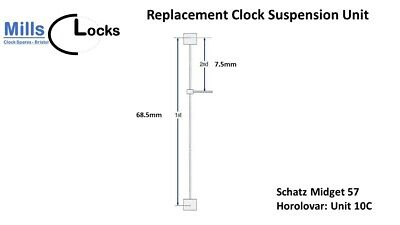 Schatz Midget 57 (unit 10C) Horolovar Anniversary 400 Day Clock Suspension Unit