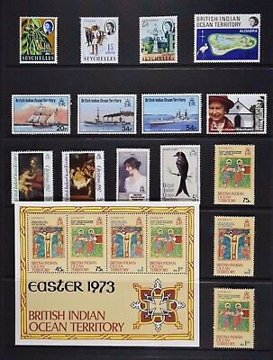 British Indian Ocean Territory, a collection of 34 stamps, UM / MM.