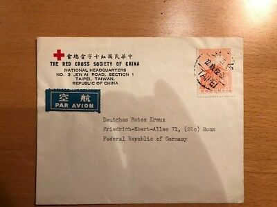 Red Cross Society of China Airmail to Germany 1962