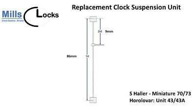 S Haller Mini 73/70 (unit 43/43A) Anniversary Clock 400 Day Suspension Unit