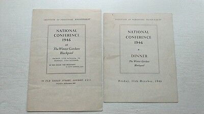 Blackpool Winter Gardens Institute Of Personnel Management Conference 1946