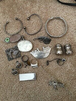 Sterling Silver Scrap Lot~Various Jewelry Pieces- Over 4.3 0z Nice