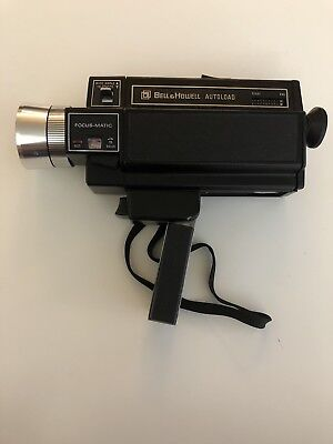 Vintage BELL & HOWELL Autoload Super 8 Focus-Matic Model 493 GUC RARE