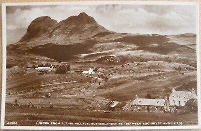 RP Postcard of Suilven from Elphin, near Lochinver, Sutherland.