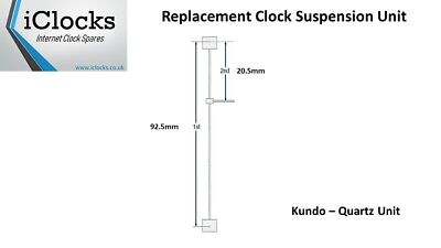 Kundo Quartz Anniversary 400 Day Suspension Complete Unit