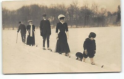 King Haakon VII & Queen Royal Family of Norway Real Photo RPPC Postcards Denmark