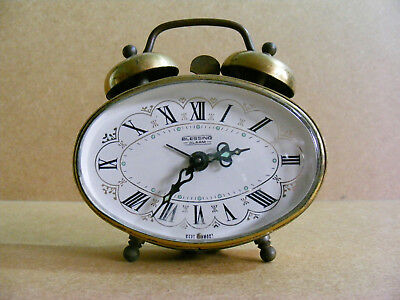 Vintage 1950-60s wind up Alarm Clock Blessing West Germany *missing alarm dial*