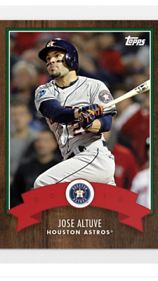 2018 Topps Holiday Advent Calendar Card Houston Astros Jose Altuve #11