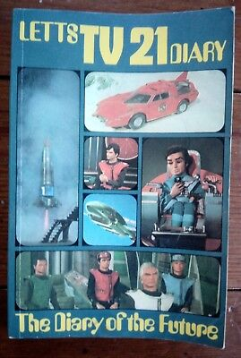 Letts  Tv 21 Diary In Excellent Condition, Thunderbirds, Captain Scarlet, 1970