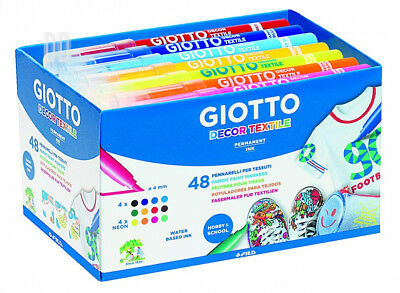 Giotto 946201 - Color felt-tip pens for fabric 48 units