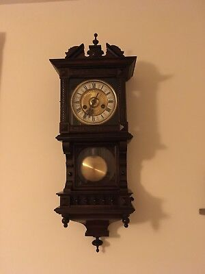 Antique Vienna Style Chiming Wall Clock