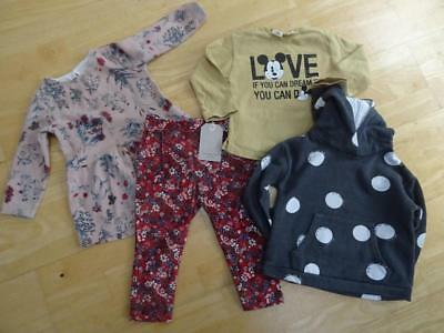 ZARA baby girls 4 piece clothes bundle trousers jumper tunic AGE 18 - 24 MONTHS