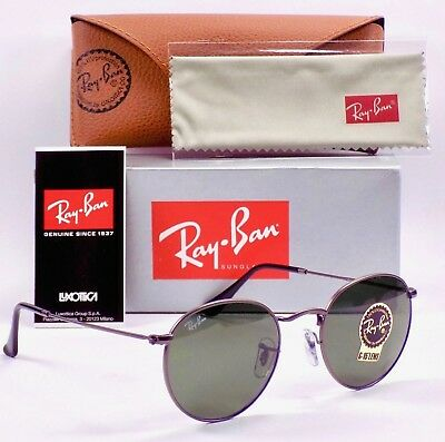 Ray Ban Round Metal Sunglasses RB3447 029 50mm & Case
