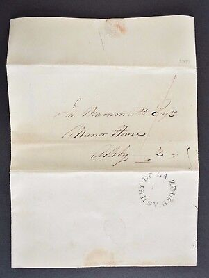 Pre-stamp entire, sent to Ashby de la Zouch, Leicestershire on SEP 23 1837.