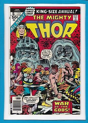 "Mighty Thor King-Sized Annual #5_1976_Very Good_""war Of The Gods""_Bronze Age!"