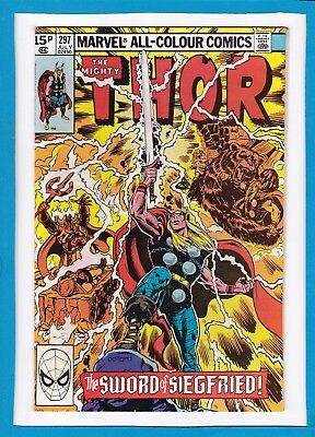 "Mighty Thor #297_July 1980_Very Fine+_""the Sword Of Siegfried""_Bronze Age Uk!"
