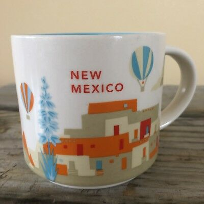 Starbucks Coffee Mug New Mexico You Are Here Collection Hot Air Balloons 2013