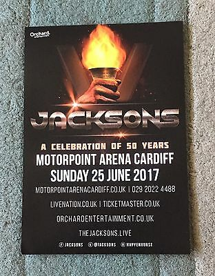 Jacksons - A Celebration Of 50 Years live in Cardiff  promo Flyer 25 June 2017