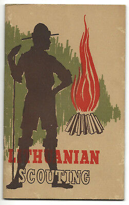 LITHUANIAN  SCOUTING booklet - Boy Scout BSA G&W/12-10