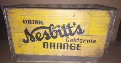 Nesbitts Soda Pop Of California Crate Wood Wooden Box Advertising Bottle Carrier