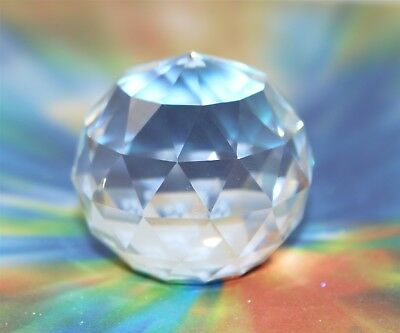 "Swarovski Crystal Prism Ball Paperweight 1.25"" w/o Box"