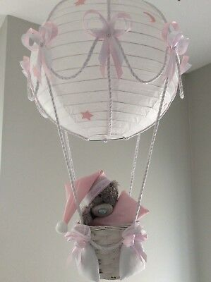 Me to you Teddy in a hot air balloon nursery lightshade, made to order