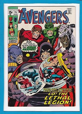 """Avengers #79_August 1970_Very Fine_""""lo! The Lethal Legion""""_Bronze Age Marvel!"""