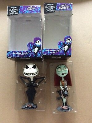 NECA Head Knocker Jack And Sally The Nightmare Before Christmas Boxed