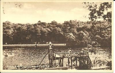 KEEPERS BATHING POOL, SUTTON COLDFIELD, WARWICKSHIRE (SEPIA PRINTED) c1930