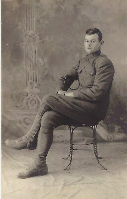 NAMED Original WWI AEF Army Portrait - 2nd Field Artillery Regt, 8th Division