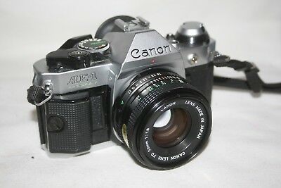 CANON AE-1 Program 35mm SLR Camera with FD 50mm 1:1.8 Lens