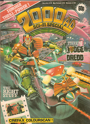 "2000AD SCI-FI SPECIAL ""THE RIGHT STUFF""starring  JUDGE DREDD,IPC MAGAZINES 1984"