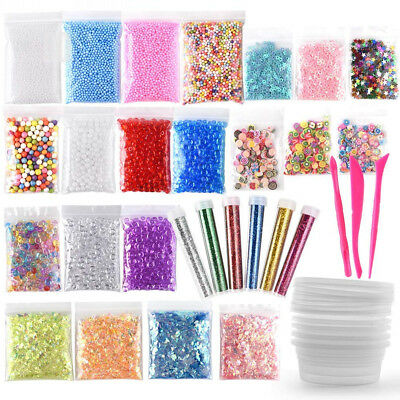 FEPITO 35 Pack Slime Making Kit Supplies Including Fishbowl Beads, Foam...