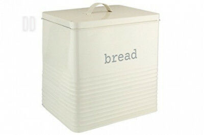 Ehc Square Bread Bin Canister Storage,Cream