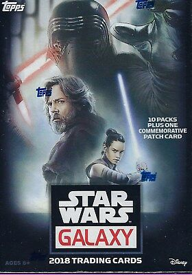 2018 Topps Star Wars GALAXY New Trading Cards 61c Blaster Box = 1 Patch Card/bx