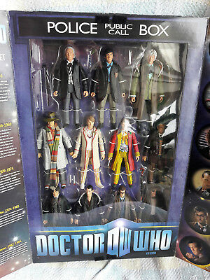 Doctor Who The Eleven Doctors Figure Set in Box BBC Ages 5+