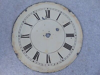 Old Antique Weight Driven Banjo / Wall Painted Clock Dial Clock Parts
