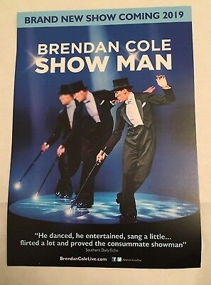 """Brendan Cole """"Show Man"""" New 2019 UK Tour Promotional Flyer A5 doublesided"""