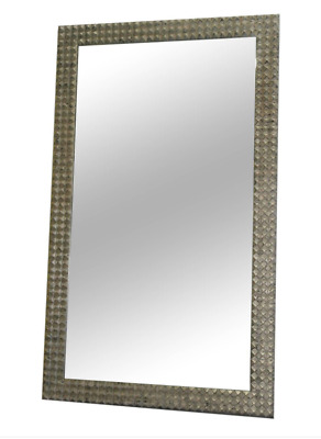 Ipe Cavalli Diamond Mirror Rrp $5240 200Cm X 119Cm Huge!! Hand Carved Wood Frame