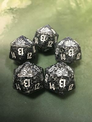 20 sided Spin Down Die MtG Magic the Gathering d20 5 Black SPINDOWN Dice Theros
