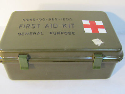 Vintage Hermsdorf Military First Aid Kit FULL Camouflaged Dressing Made USA